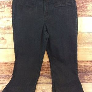 Bandolino Cropped Capri Jeans Size 6 Dark Wash